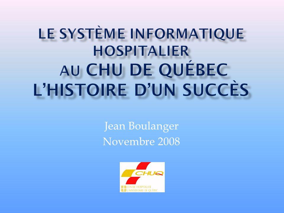 Le Centre hospitalier universitaire de Québec est issu de la fusion en 1995 de 3 hôpitaux : CHUL Hôpital Saint-François dAssise LHôtel-Dieu de Québec