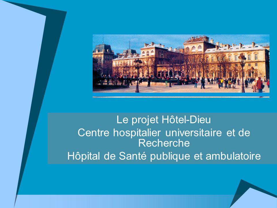 Le projet Hôtel-Dieu Centre hospitalier universitaire et de Recherche Hôpital de Santé publique et ambulatoire
