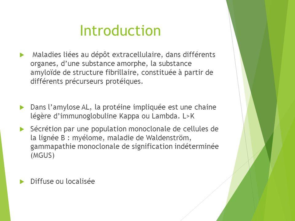 Introduction Maladies liées au dépôt extracellulaire, dans différents organes, dune substance amorphe, la substance amyloïde de structure fibrillaire,