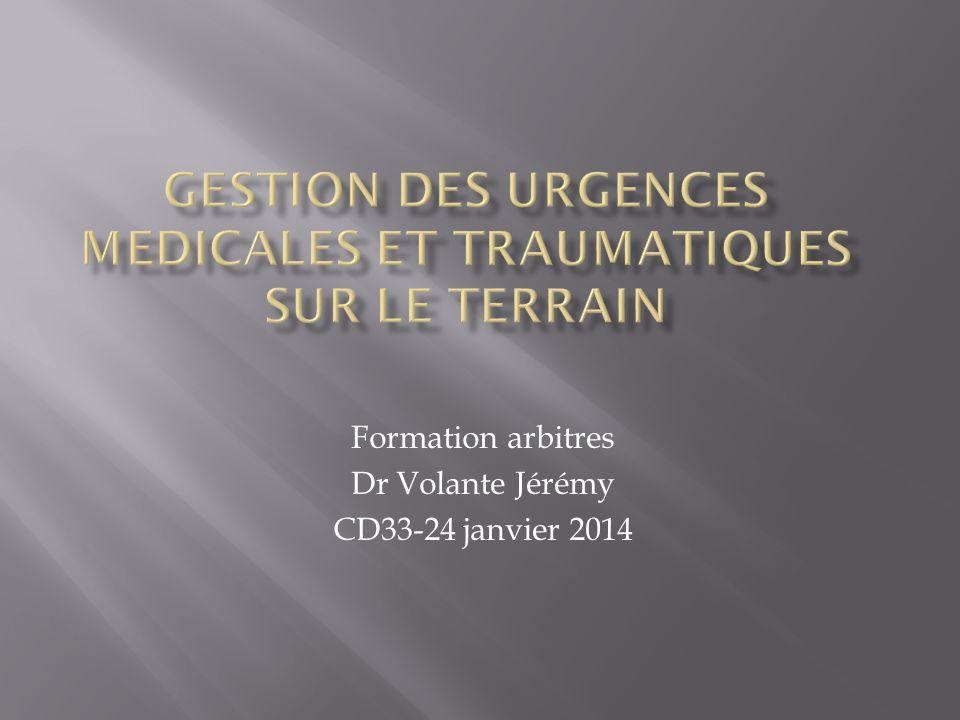 Formation arbitres Dr Volante Jérémy CD33-24 janvier 2014