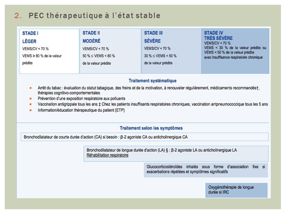 2.PEC thérapeutique à létat stable