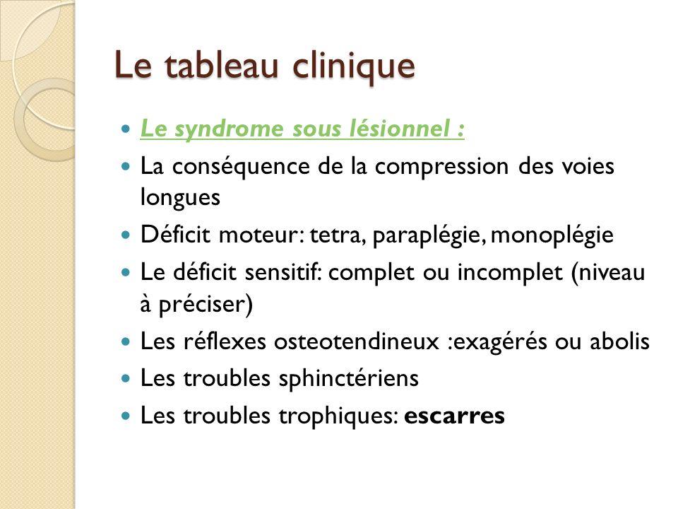 Le tableau clinique Le syndrome sus lésionnel : Très rares Les névralgies faciales :compressions cervicales hautes