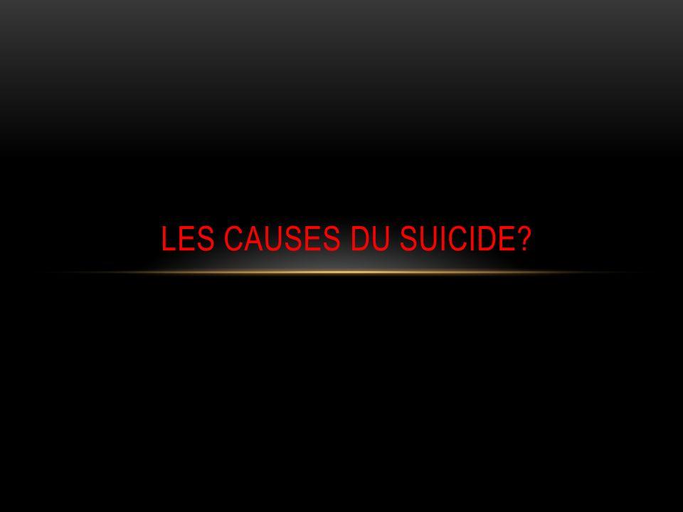 TRANCHE DAGE 15 – 44 ans 2002 = 60% 2010 = 63%. Taux de suicide