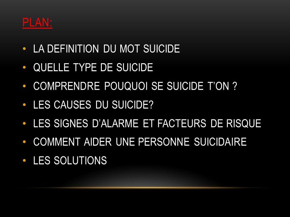 La crise suicidaire LE SUICIDE
