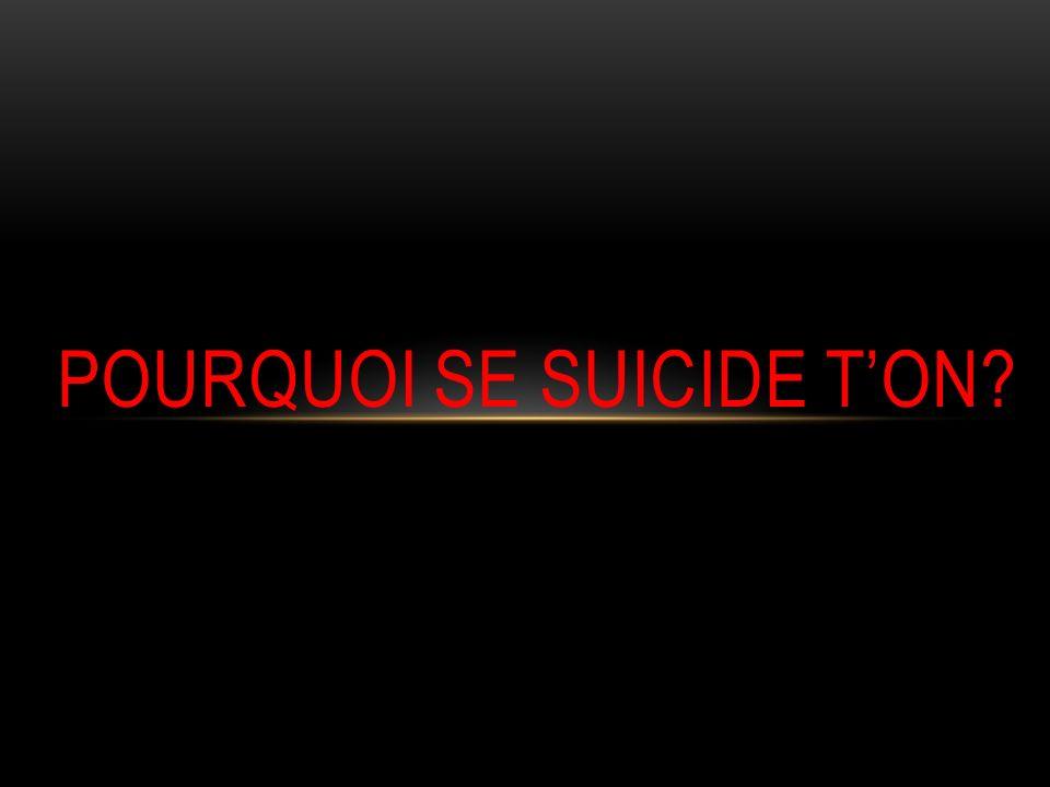 LES CAUSES DU SUICIDE Plusieurs situations difficiles et perturbantes peuvent pousser des adolescents à envisager le suicide: 2 grands axes: Sur le plan émotionnelle Sur la situation relationnelle dans le cadre familiale