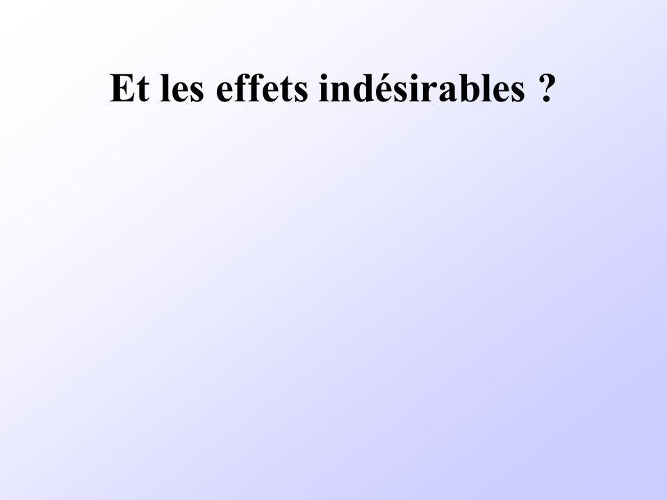 Et les effets indésirables ?
