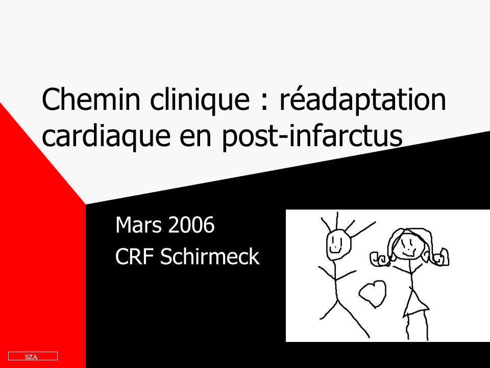 Chemin clinique : réadaptation cardiaque en post-infarctus Mars 2006 CRF Schirmeck SZA