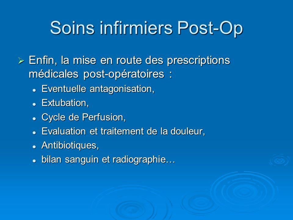 Soins infirmiers Post-Op Enfin, la mise en route des prescriptions médicales post-opératoires : Enfin, la mise en route des prescriptions médicales po