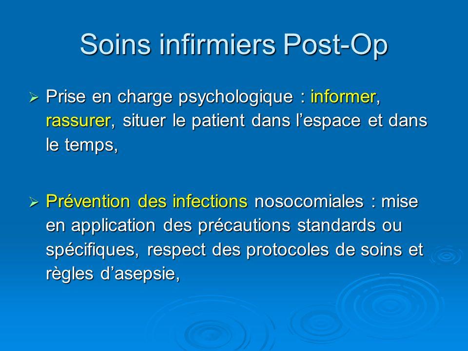 Soins infirmiers Post-Op Prise en charge psychologique : informer, rassurer, situer le patient dans lespace et dans le temps, Prise en charge psycholo