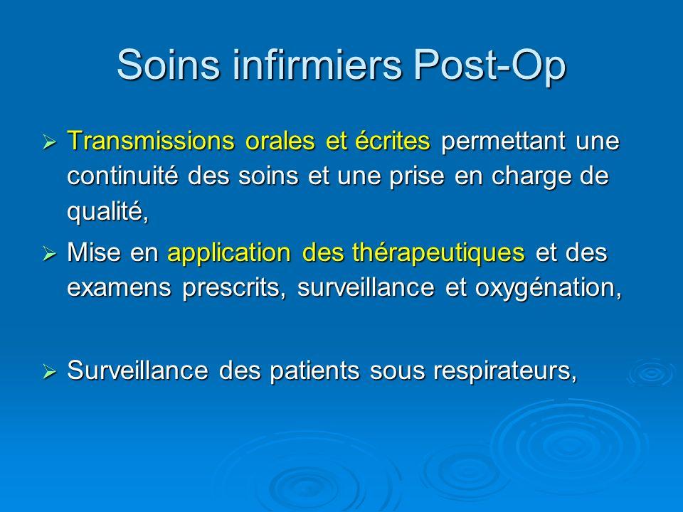 Soins infirmiers Post-Op Transmissions orales et écrites permettant une continuité des soins et une prise en charge de qualité, Transmissions orales e