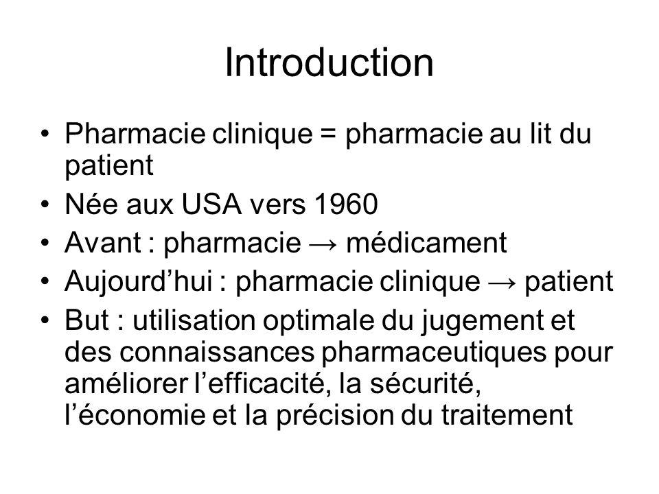 DES en pharmacie hospitalière et clinique Ouvert en 2004 à lUCL 4 rotations de 12 semaines : –Cardiologie –Gastroentérologie –Soins intensifs –Gériatrie Cours théoriques : épidémiologie, pharmacogénomique, essais cliniques, pharmacocinétique