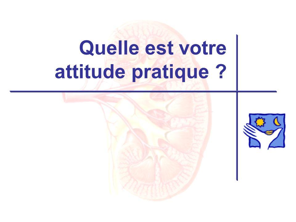 Quelle est votre attitude pratique ?