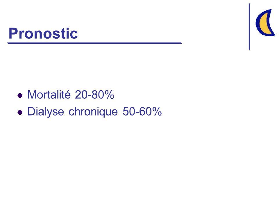 Etiologies des NTA Ischémiques IRA fonctionnelle sévère et prolongée Etat de choc Obstructive Pigments organiques endogènes myoglobine (rhabdomyolyses) hémoglobine (hémolyses intravasculaires Chaînes légères dimmunoglobulines CIVD Cocaïne Souvent multifactorielle Toxiques Produits de contraste iodés Antibiotiques: aminosides, vancomycine Ampho B, acyclovir Cisplatine Ciclosporine, Tacrolimus Macromolécules (HEA) Métaux lourds: Arsenic, Plomb, Mercure Solvants organiques: Méthanol, Trichloréthylène Ethylène glycol