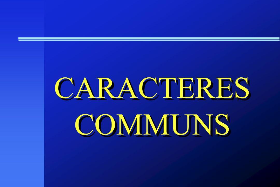 CARACTERES COMMUNS