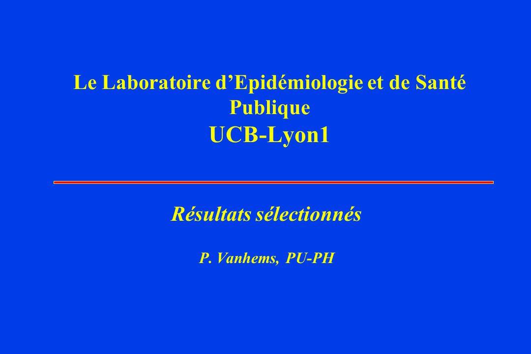 Le Laboratoire dEpidémiologie et de Santé Publique UCB-Lyon1 Résultats sélectionnés P.