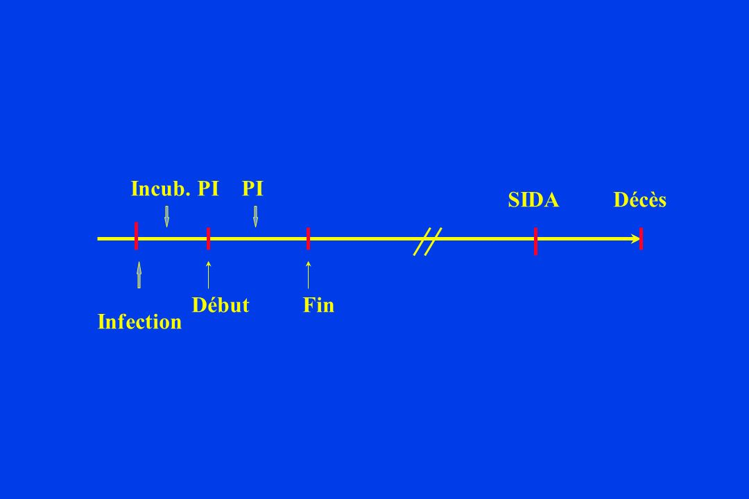 Infection PIIncub. PI SIDADécès DébutFin