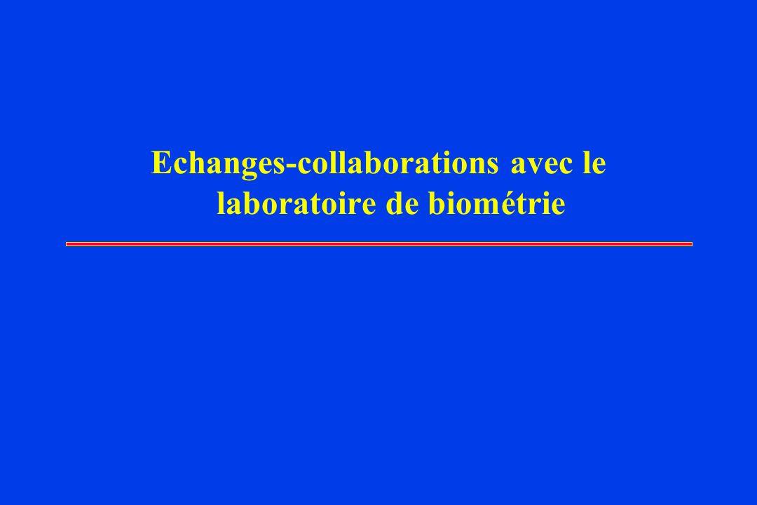 Echanges-collaborations avec le laboratoire de biométrie