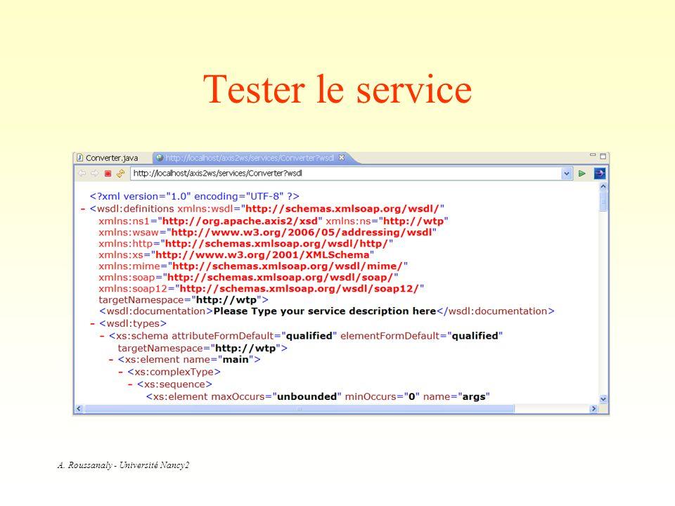 Tester le service
