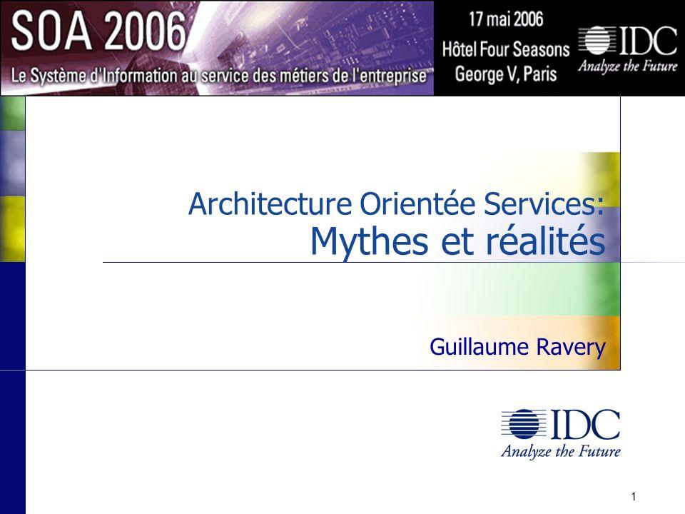 ©IDC, 2006 Une importance perçue Q.Quel degré dimportance attachez-vous au fait que votre système dinformations et ceux de vos fournisseurs supportent une architecture SOA.