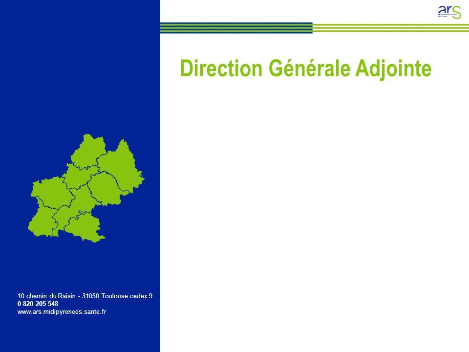 Réseau territorial Direction Générale Adjointe 10 chemin du Raisin - 31050 Toulouse cedex 9 0 820 205 548 www.ars.midipyrenees.sante.fr