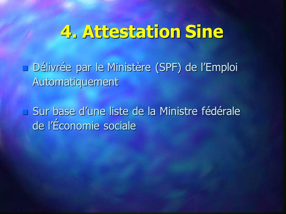 n Délivrée par le Ministère (SPF) de lEmploi Automatiquement Automatiquement n Sur base dune liste de la Ministre fédérale de lÉconomie sociale de lÉconomie sociale 4.