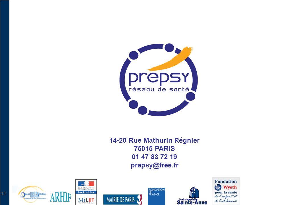 15 14-20 Rue Mathurin Régnier 75015 PARIS 01 47 83 72 19 prepsy@free.fr