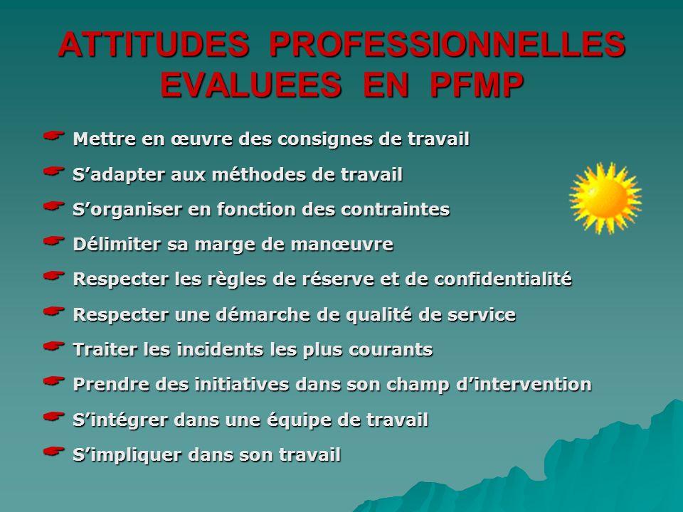 PERIODES DE FORMATION EN MILIEU PROFESSIONNEL Objectifs : * accueil – information * fourniture et suivi dune prestation * gestion des réclamations et
