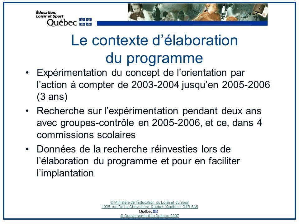 © Ministère de l Éducation, du Loisir et du Sport 1035, rue De La Chevrotière, Québec (Québec) G1R 5A5 © Gouvernement du Québec, 2007 Les compétences propres au PPO et leurs composantes