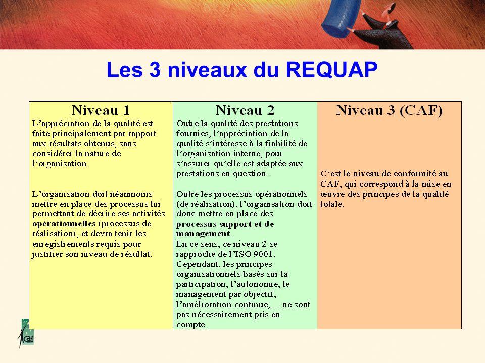 Les 3 niveaux du REQUAP