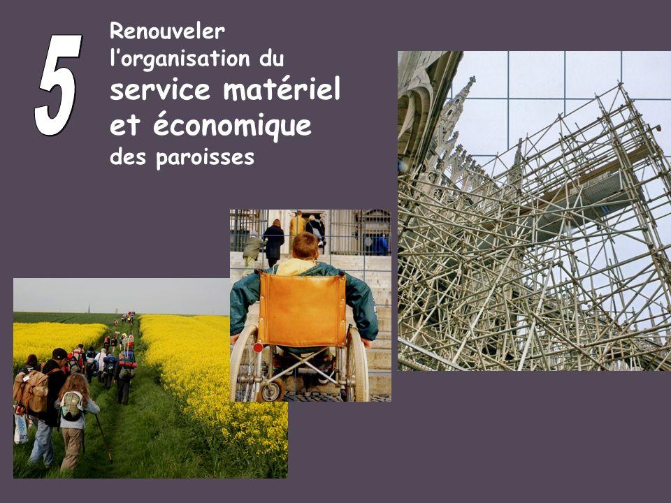 Renouveler lorganisation du service matériel et économique des paroisses