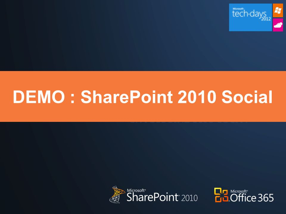DEMO : SharePoint 2010 Social