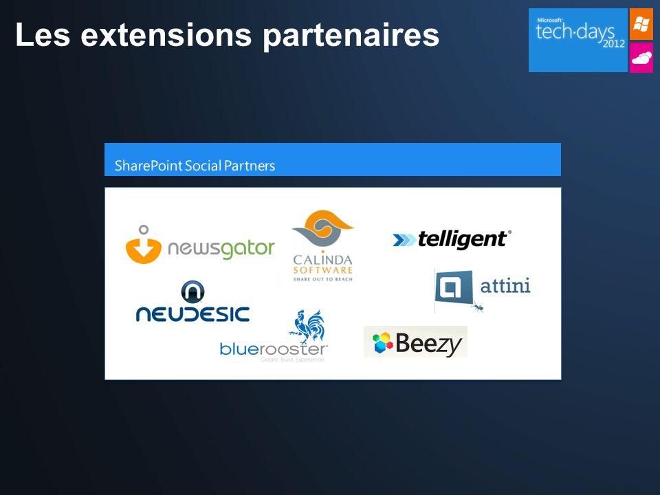 Les extensions partenaires