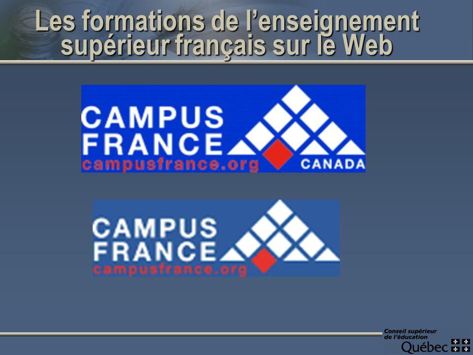 Les formations de lenseignement supérieur français sur le Web