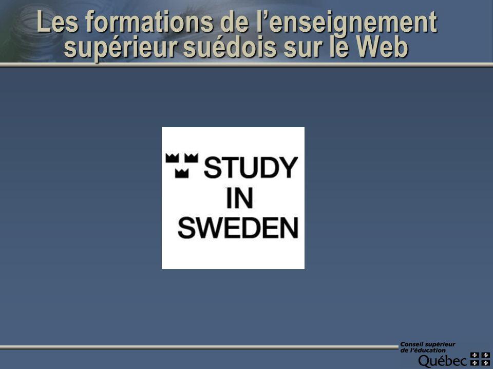 Les formations de lenseignement supérieur suédois sur le Web