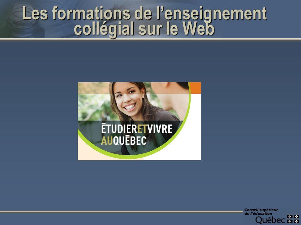 Les formations de lenseignement collégial sur le Web