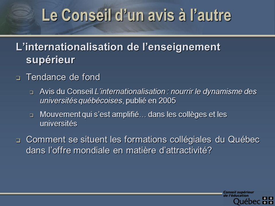 Ici, au Québec… Les formations de type collégial sont-elles prisées par les étudiants internationaux.