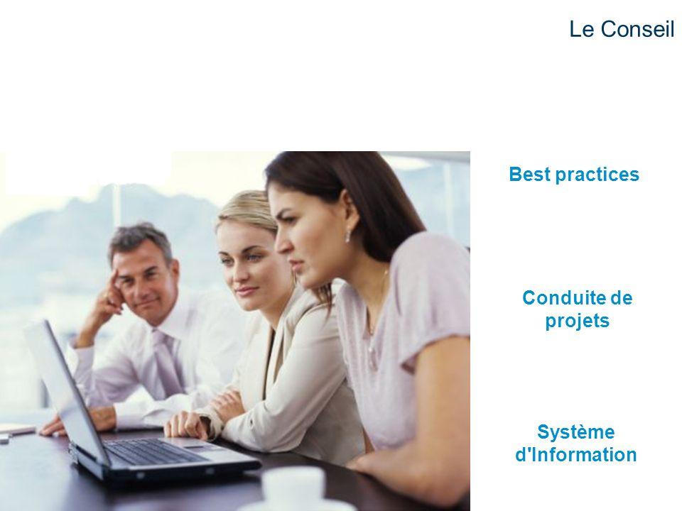 Système d'Information Conduite de projets Best practices Le Conseil