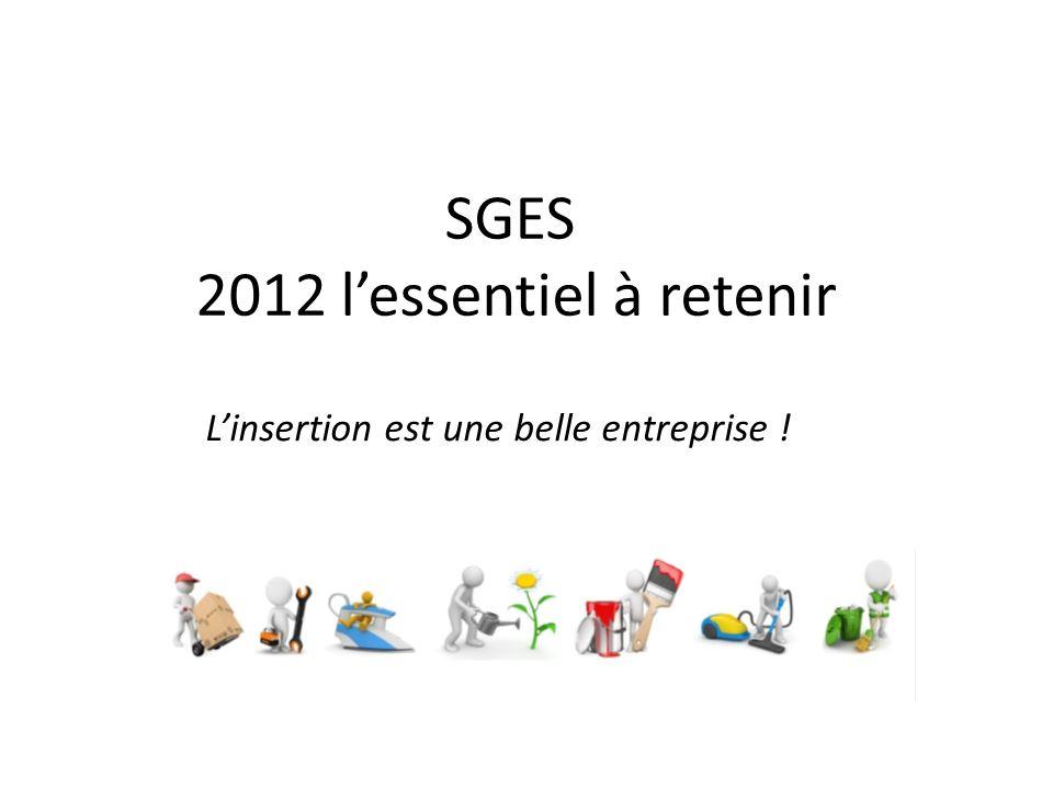SGES 2012 lessentiel à retenir Linsertion est une belle entreprise !