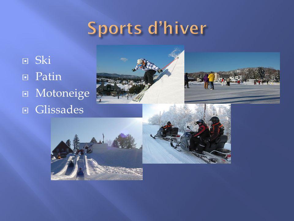 Ski Patin Motoneige Glissades