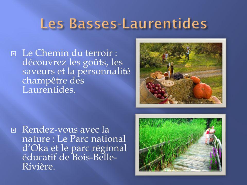 Le Chemin du terroir : découvrez les goûts, les saveurs et la personnalité champêtre des Laurentides. Rendez-vous avec la nature : Le Parc national dO