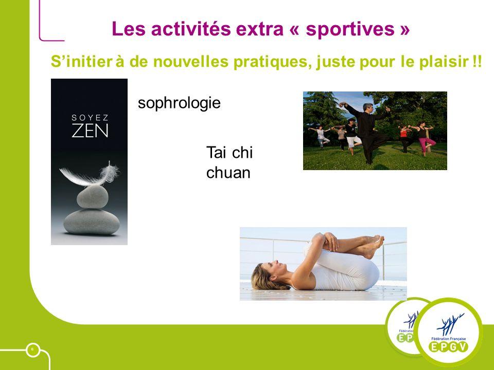 6 Les activités extra « sportives » Sinitier à de nouvelles pratiques, juste pour le plaisir !! sophrologie Tai chi chuan