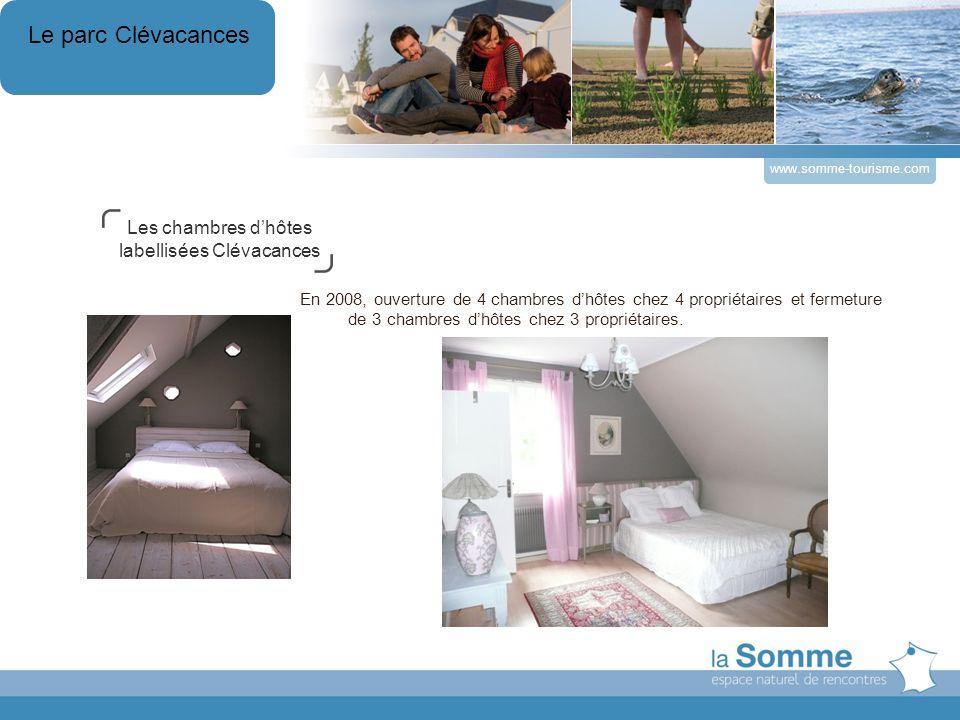 www.somme-tourisme.com En 2008, ouverture de 4 chambres dhôtes chez 4 propriétaires et fermeture de 3 chambres dhôtes chez 3 propriétaires.