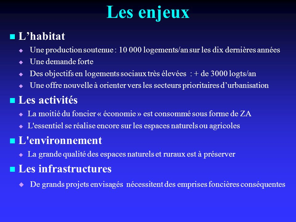 Lhabitat Une production soutenue : 10 000 logements/an sur les dix dernières années Une demande forte Des objectifs en logements sociaux très élevées