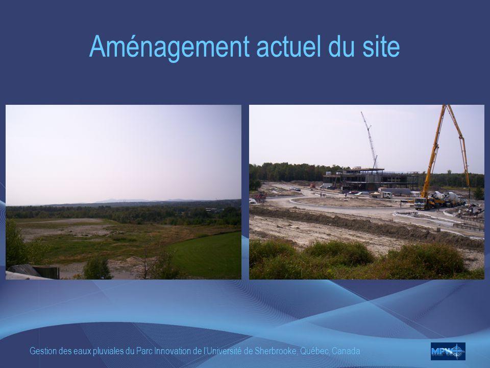 Gestion des eaux pluviales du Parc Innovation de lUniversité de Sherbrooke, Québec, Canada Aménagement actuel du site