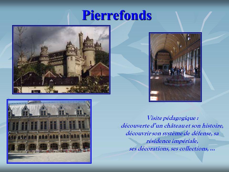 Pierrefonds Visite pédagogique : découverte dun château et son histoire, découvrir son système de défense, sa résidence impériale, ses décorations, se