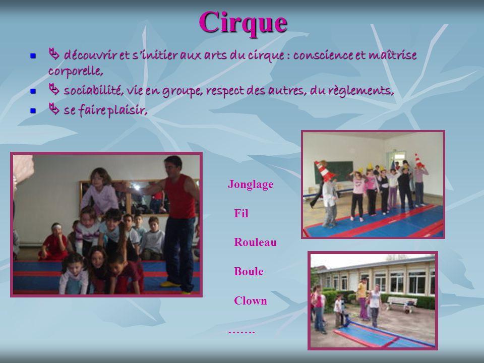 Cirque découvrir et sinitier aux arts du cirque : conscience et maîtrise corporelle, découvrir et sinitier aux arts du cirque : conscience et maîtrise