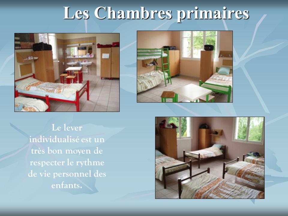 Les Chambres primaires Le lever individualisé est un très bon moyen de respecter le rythme de vie personnel des enfants.