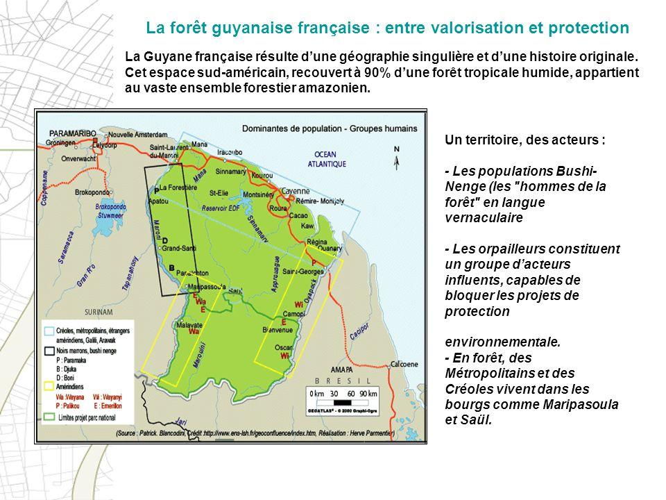 La Guyane française résulte dune géographie singulière et dune histoire originale. Cet espace sud-américain, recouvert à 90% dune forêt tropicale humi