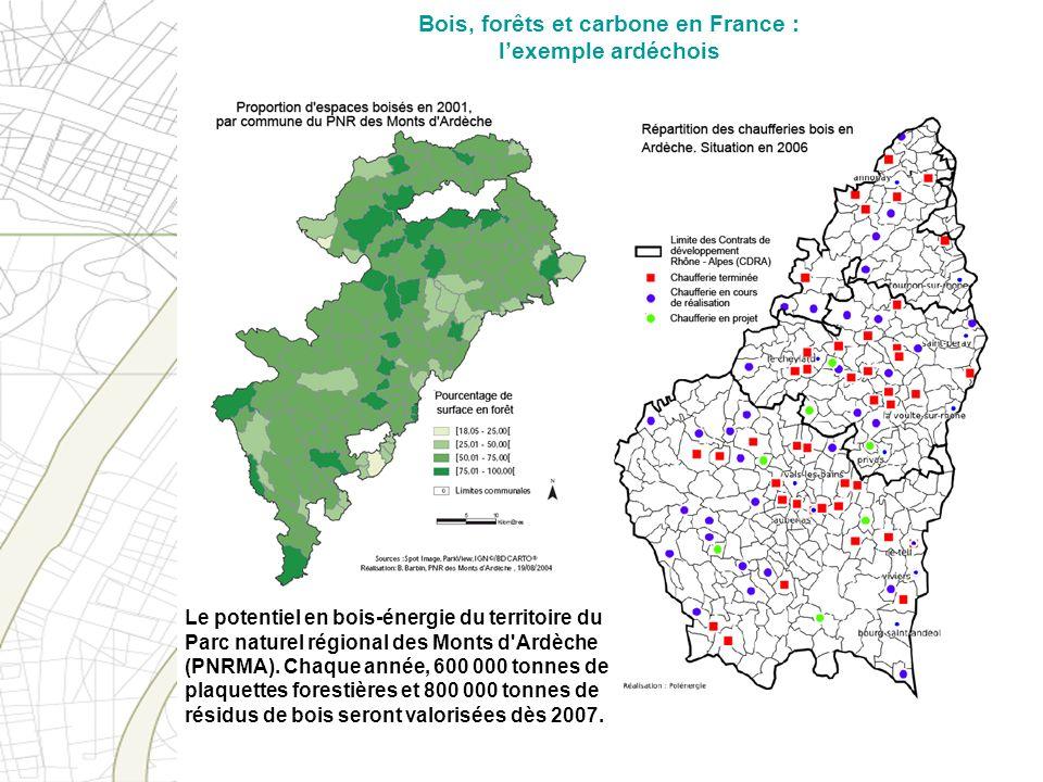 Bois, forêts et carbone en France : lexemple ardéchois Le potentiel en bois-énergie du territoire du Parc naturel régional des Monts d'Ardèche (PNRMA)