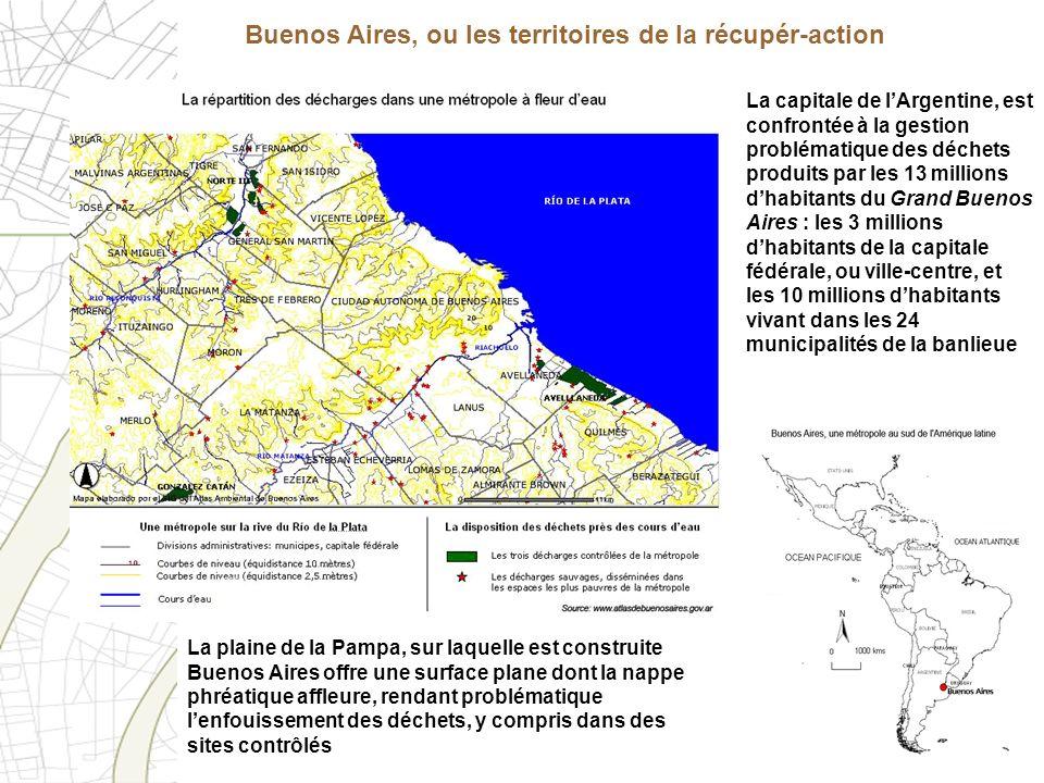 Buenos Aires, ou les territoires de la récupér-action La capitale de lArgentine, est confrontée à la gestion problématique des déchets produits par le